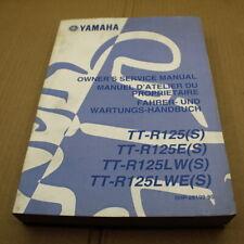 MANUEL REVUE TECHNIQUE D ATELIER YAMAHA TT-R 125 LW TTRE 2004 S TTR ENTRETIEN