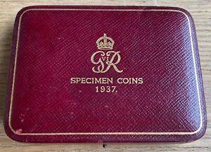 1937 King George VI Gold Proof Sovereign Set Box