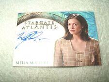 Stargate Atlantis Autograph Card Melia McClure as Melia