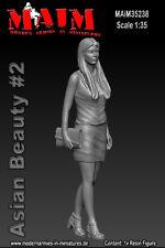 1/35 maßstab harz satz Asiatische Schönheit #2 weiblich figur