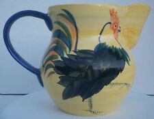 Handpainted Pottery Ceramic Country Rooster Pitcher