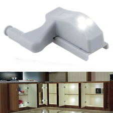 White Cabinet Hinge LED Sensor Light For Wardrobe Cupboard Home Kitchen Closet