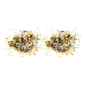 2x Metallic Star Confetti Table Scatter Banquet Party Favors Wedding Decor