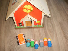 école Fisher Price Little people  Play Family School House + personnage  Vintage