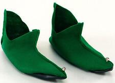 Fieltro verde Zapatos Con Campanas Peter Pan Disfraces De Duende Pixie Santa