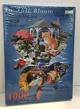 Spilsbury Puzzle - In Full Bloom Flower Shaped -Cats for All Seasons 3rd Edition