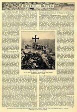 Das Eiserne Kreuz in Grüne bei Iserlohn. Bild+Text von 1900
