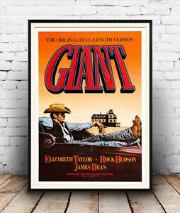 Giant , Vintage James Dean Film poster reproduction