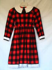 Victorian Dress Edwardian Civil War Style Red & Black Flannel Girl's Child