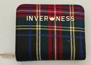 Ladies Inverness 4 Colours Tartan Check Sara Foldable Flap Clip Button Closure
