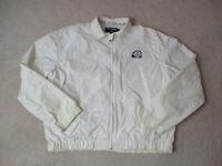 VINTAGE Ralph Lauren Polo Jacket Adult Large White Blue Polo Tennis Mens 90s *