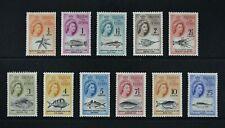 TRISTAN DA CUNHA, QEII, 1963, 11 stamps from set to 25c. value, UM, Cat £16.