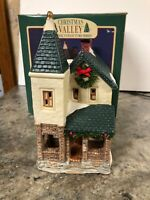 Christmas Valley Lighted Building 1995 Farm House Victorian Porch Steeple