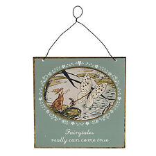 "Vintage ""Fairy tales can come True"" Sign Hanging Decoration 15 x15 Sass & Belle"