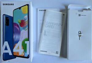 Samsung Galaxy A41 Dual SIM Unlocked 64GB/4GB Prism Crush Blue Black Screen