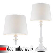 Leuchte JORDI Tischlampe Landhaus Nachttischlampe Lampe Stehleuchte weiß