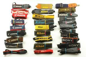 🔹Lot of Assorted Camera Strap Part2🔹Nikon Canon Pentax Minolta Contax Sony etc