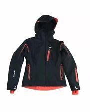 KJUS Women's Winter Ski Sports Jacket Dermizax EV Fabric Sz 36 S Black Orange