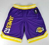 NBA Los Angeles Lakers Lebron James Basketball Shorts Men's Sz M Purple VSM6637S