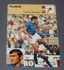 FICHE FOOTBALL 1974 TARCISIO BURGNICH SQUADRA AZZURRA ITALIA ITALIE INTER NAPOLI