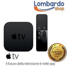APPLE TV 4 QUARTA GENERAZIONE 32GB A1625 HDMI WLAN SIRI REMOTE CONTROLLER