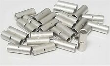 10-12 GAUGE 25 PK UNINSULATED NON - INSULATED BUTT CONNECTOR CRIMP TERMINAL WIRE