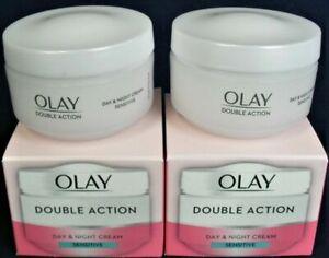 2x Olay Double Action Moisturiser Day & Night Cream 50ml Sensitive Oil of Ulay
