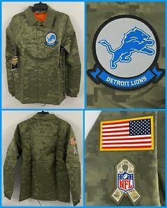 NWT Men's Detroit LIONS Military Appreciation CAMOUFLAGE Jacket Coat - Small