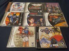 Amazing! 8 Sega Dreamcast Game Lot! Time Stalkers Sonic Adventures Carrier etc!