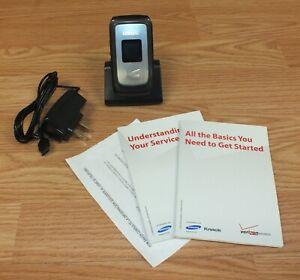 Samsung SCH-U310 (Verizon) CDMA Flip Phone With Power Supply Bundle **READ**