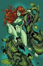 Poison Ivy vine DC comic batman gotham sexy art signed 11x17 print Rod Jacobsen