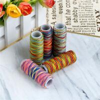 5 stücke Regenbogen Farbe Nähgarn DIY Stickerei Nähen Garn Strickgarn Sa