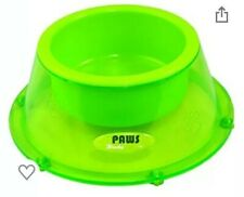 Paws Pet Bowl Green Small Dog Cat