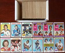 1975-76 NHL O-Pee-Chee Starter Set Lot of 281/396