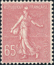FRANCE - 1924 - Yv.201/Mi.163 65c rose Semeuse Lignée Neuf **