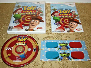 Toy Story Mania Nintendo Wii 2009 With Sealed 3D Glasses Manual Complete Mint