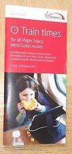 Virgin Trains West Coast Passenger Timetable booklet:all services Summer 2017