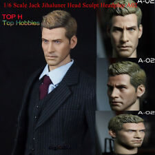 1/6 Scale Jake Gyllenhaal Head Sculpt American Male Stars Head Carving Model