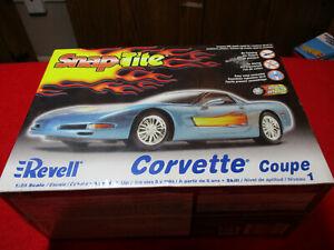 Revell SnapTite Corvette Coupe 1/25 Scale Plastic Model Kit Factory Sealed