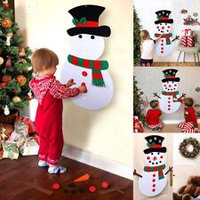 Christmas DIY Felt Snowman Kit Ornaments for Kid Xmas Gifts Wall Hanging Decor