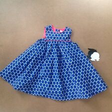 Lilly Wicket Blue And Orange Geometric Circle Dress Sleeveless