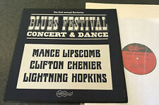 1030-BLUES FESTIVAL-USA 1966 ARHOOLIE VINYL LP-MANCE LIPSCOMB/LIGHTNIN' HOPKINS