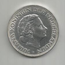 08D) NETHERLANDS 2,50 GULDEN 1961 - SILVER 0,720 - UNC