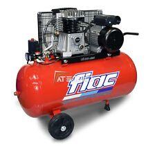 Compresseur d'air 100 L tri-phases Fiac AB 100-360T transmission courroie 2,2 Kw