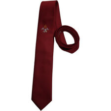 Red icefond Fire Brigade Tie Woven Badge, Suit, Long Ties, Tie
