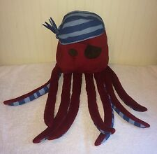Circo Target Plush Octopus Pirate Bed Pillow Decoration Maroon Purple Blue 26""