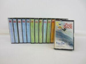 Lotto di 15 audiocassette Pinocchio, Alice e Peter Pan - Fiabe Sonore - 1999