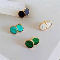 Women's Turquoise Marble Pattern Ear Stud Boho Geometric Earrings Jewelry Gifts