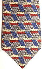 "Neiman Marcus Men's Silk Tie 59"" X 4"" Multi-Color Geometric"