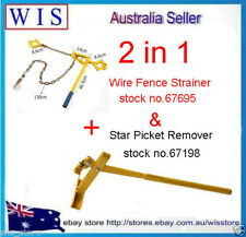 2 in 1 Wire Fence Strainer for Plain & Barb Wire Chain Type & Star Picket Lifter